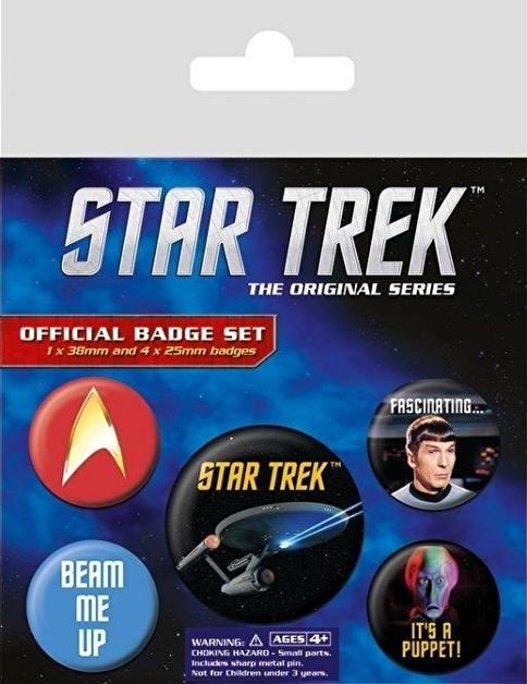 Pyramid International Rozet Seti - Star Trek BP80495 Renkli